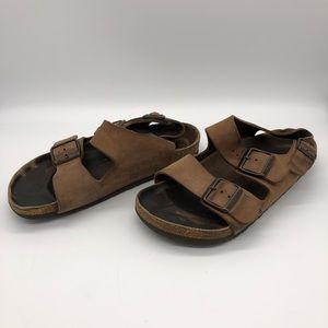 Birkenstock Milano Cocoa Nubuck Sandals